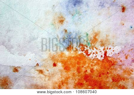 Macro Multi-Colour Watercolor 15