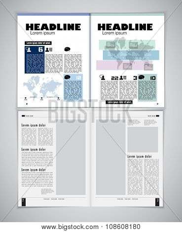 Design newspaper template
