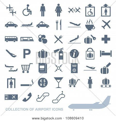 Set of airport icons