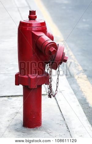 fire hydrant on a city street