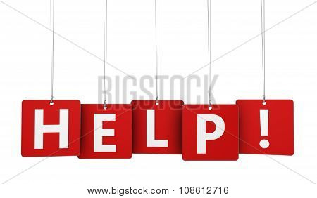 Help Sign On Red Tags