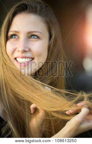 Smiling Young Blonde Girl
