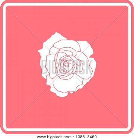 open rose flower sign