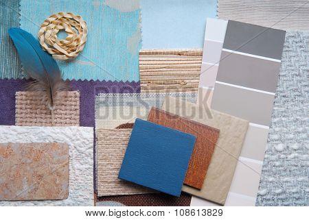 interior color design selection concept