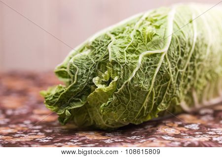 Closeup Of Chinese Cabbage