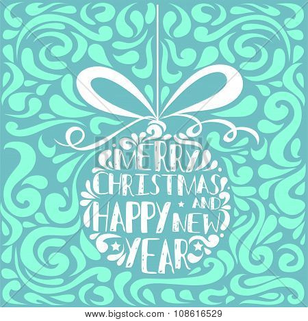 Typographical Greeting Card.