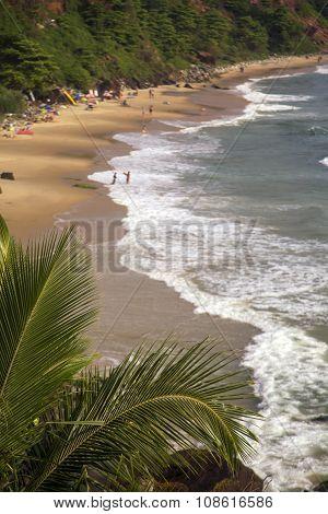 Beach In Varkala In Kerala State, India