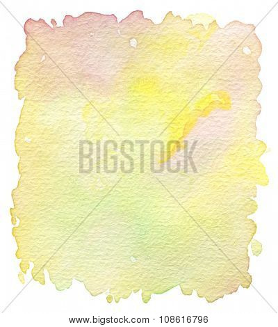Abstract acrylic and watercolor brush strokes painted background. Texture paper.
