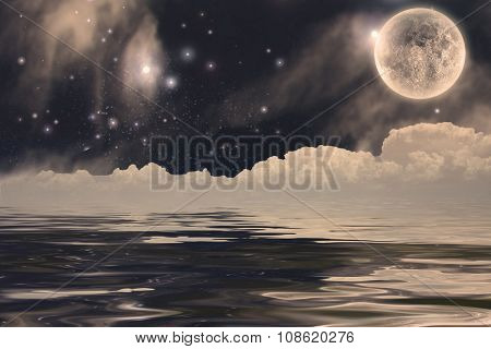 Fantastic Moon Landscape