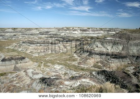 Panorama of Drumheller badlands