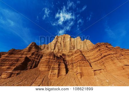 Temple of the Moon and the Sun in Cathedral Valley in Capitol Reef National Park, Utah