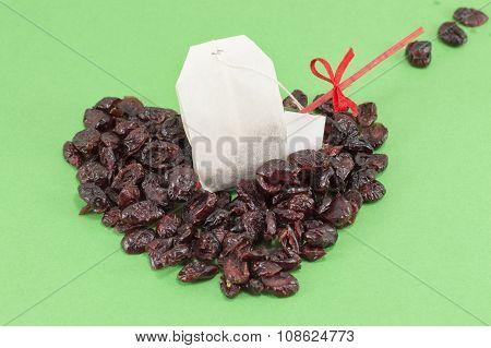 Dried Cranberry Fruit And Cranberry Tea Bag