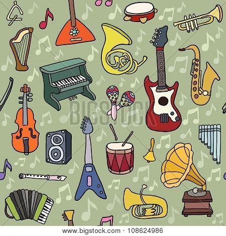 Music Seamless Pattern.