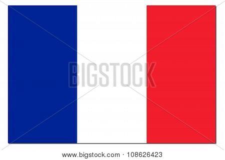 France Flag Shadow