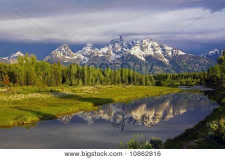 Grand Teton National Park At Schwabacher Landing