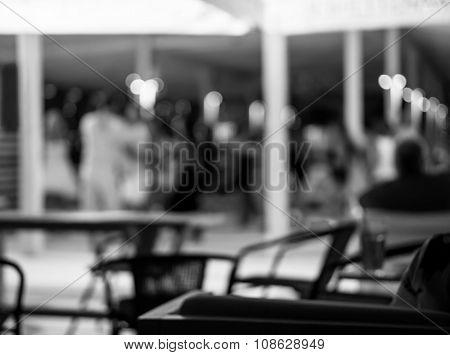 Background Of Disco Club De Focused Black And White