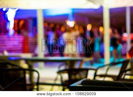 Background Of Disco Club De Focused