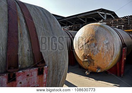 Big Fiber Glass Storage Tanks