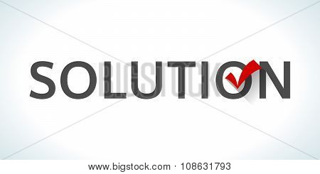Conceptual word solution isolated on white background