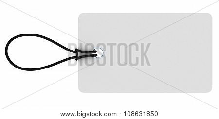 Small Rectangular Blank White Price Tag Isolated On White