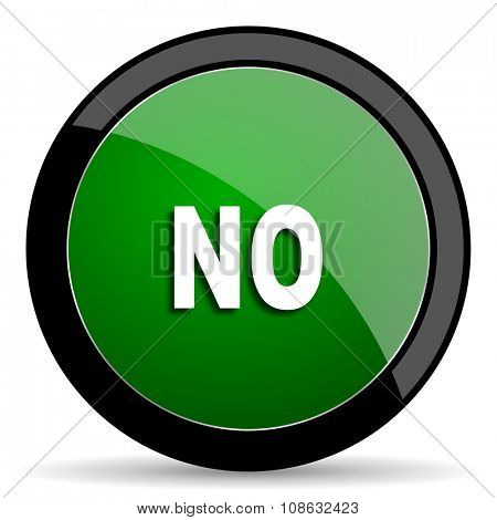 no green web glossy circle icon on white background
