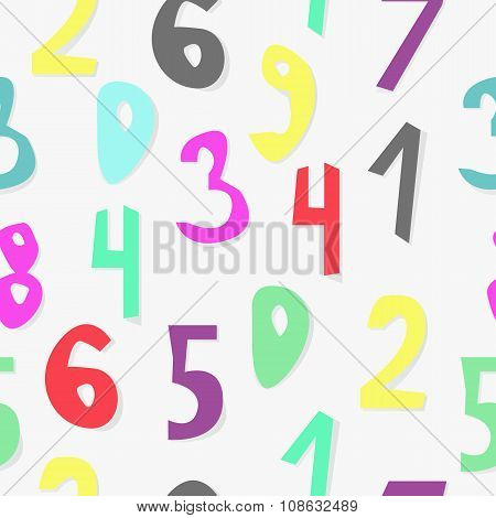 Kids Typography Seamless Pattern