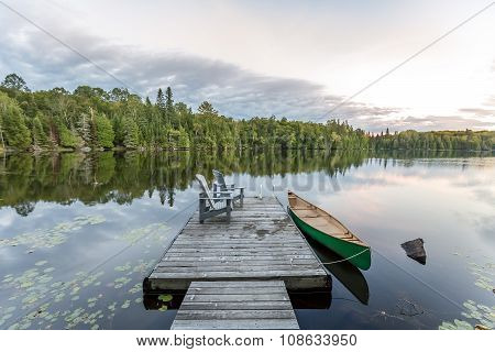 Canoe And Dock - Ontario, Canada