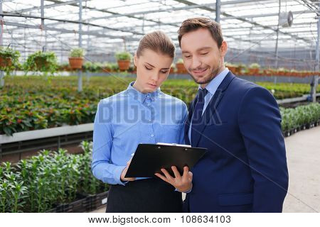 Business colleague discussing their work