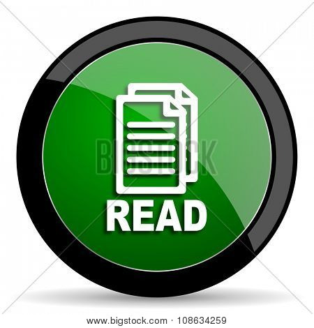 read green web glossy circle icon on white background