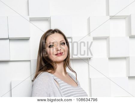 Portraot of beuatiful model with color makeup