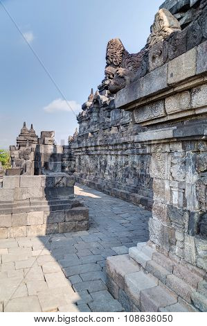 Galleries And Walls Of Borobudur  Temple