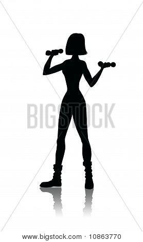 Sport Girl Silhouette