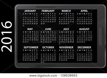 2016 Electronic Calendar