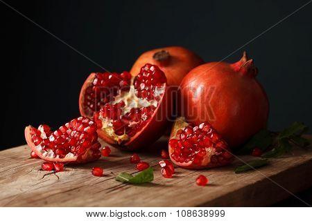Pomegranate Fruit Healthy Food Fresh Organic