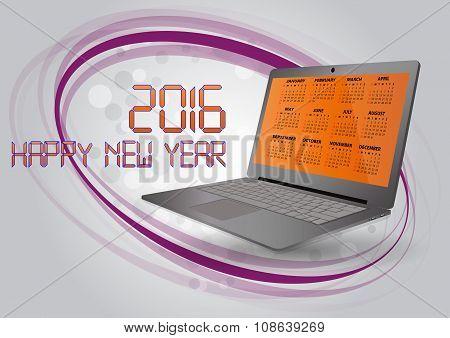 2016 Calendar Laptop