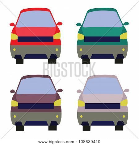Cars Front View Illustration