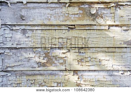 Weathered wood siding outdoor layers of paint