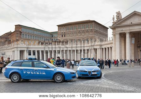 Police Cars In Vatican City