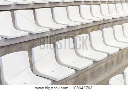 rows of seats on the tribune