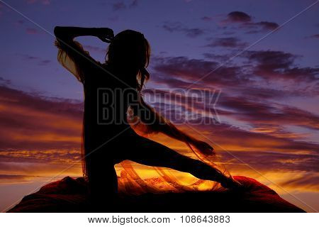 Silhouette Woman In Sheer Nightgown Leg Straight