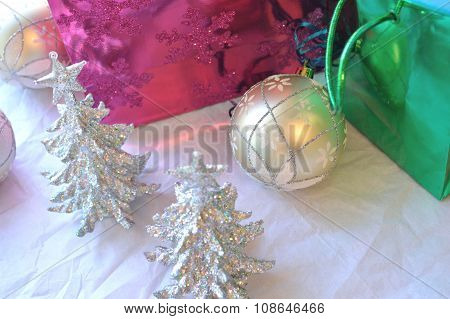 Glittery Christmas Decoration Background