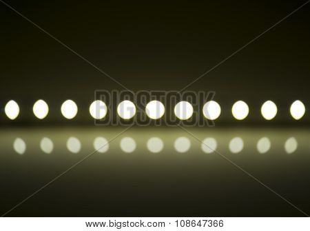 Play Of Light On Defocusing Blur Led Lamps Background