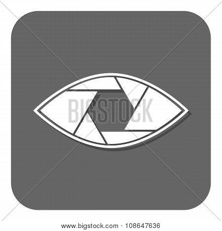 Shutter eye conceptual flat abstract icon