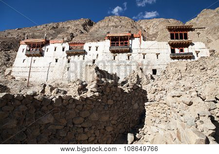 Ruins Of Royal Palace In Tiger, Nubra Valley
