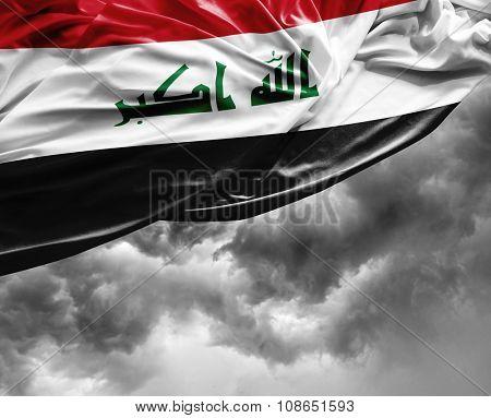 Iraq waving flag on a bad day