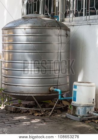 Old Stainless Water Tank