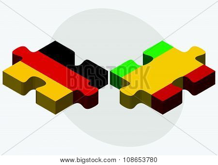 Germany And Mali Flags