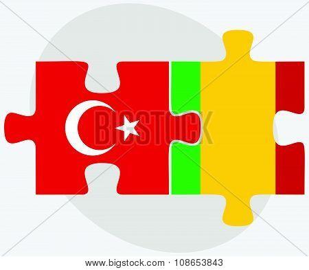 Turkey And Mali Flags