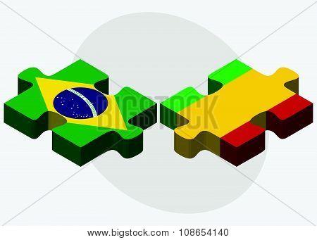 Brazil And Mali Flags