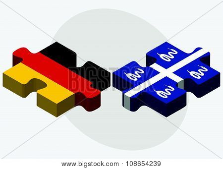 Germany And Martinique Flags
